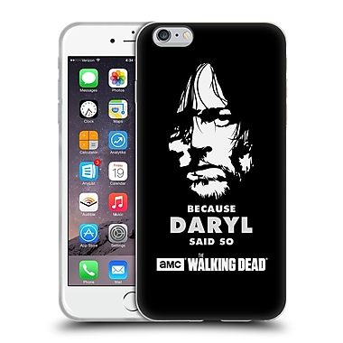 Official Amc The Walking Dead Typography Daryl Says Soft Gel Case For Apple Iphone 6 Plus / 6S Plus