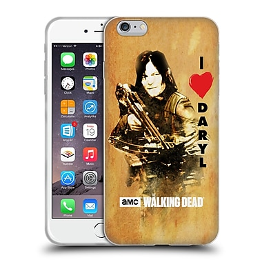 Official Amc The Walking Dead Typography Love Daryl Crossbow Soft Gel Case For Apple Iphone 6 Plus / 6S Plus