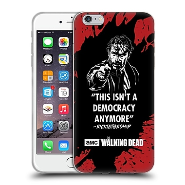 Official Amc The Walking Dead Typography Ricktatorship Soft Gel Case For Apple Iphone 6 Plus / 6S Plus