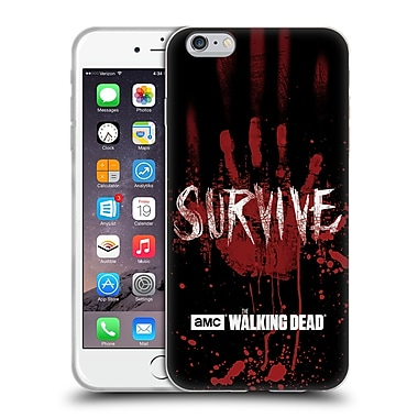 Official Amc The Walking Dead Typography Survive Hand Soft Gel Case For Apple Iphone 6 Plus / 6S Plus