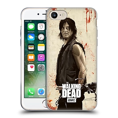Official Amc The Walking Dead Distressed Illustrations Daryl Soft Gel Case For Apple Iphone 7