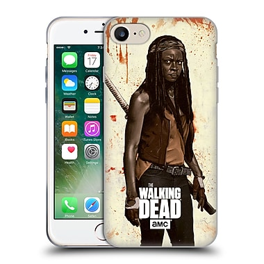 Official Amc The Walking Dead Distressed Illustrations Michonne Soft Gel Case For Apple Iphone 7
