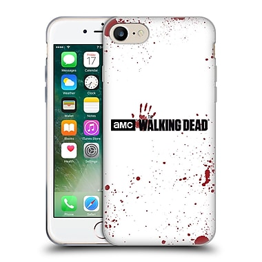 Official Amc The Walking Dead Logo Blood White Soft Gel Case For Apple Iphone 7
