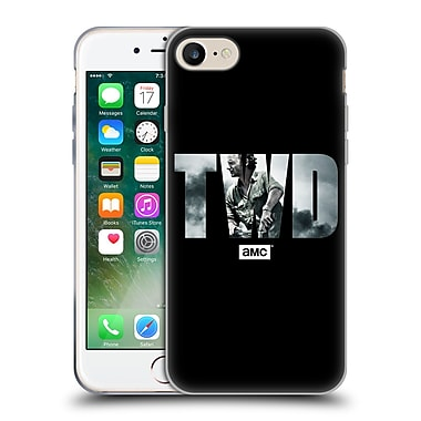 Official Amc The Walking Dead Logo Portrait Soft Gel Case For Apple Iphone 7