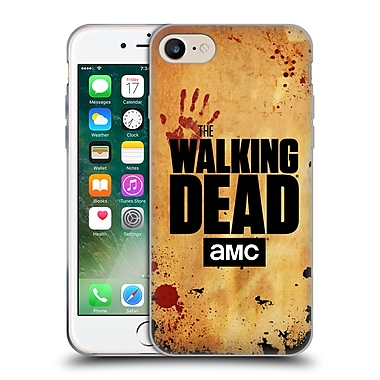 Official Amc The Walking Dead Logo Stacked Soft Gel Case For Apple Iphone 7