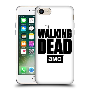 Official Amc The Walking Dead Logo White Soft Gel Case For Apple Iphone 7