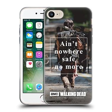 Official Amc The Walking Dead Quotes Daryl Nowhere Safe Soft Gel Case For Apple Iphone 7