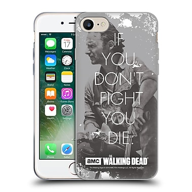 Official Amc The Walking Dead Quotes Rick Fight Soft Gel Case For Apple Iphone 7