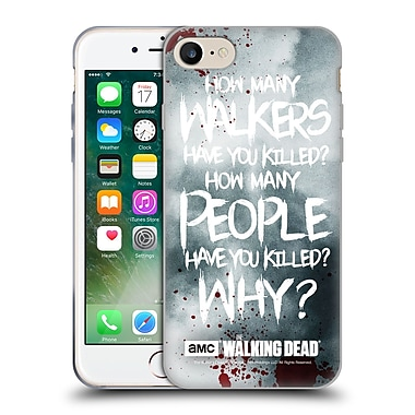 Official Amc The Walking Dead Quotes Rick Questions Soft Gel Case For Apple Iphone 7