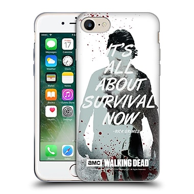 Official Amc The Walking Dead Quotes Rick Survival Soft Gel Case For Apple Iphone 7