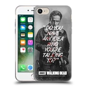 Official Amc The Walking Dead Quotes Rick Talk Soft Gel Case For Apple Iphone 7