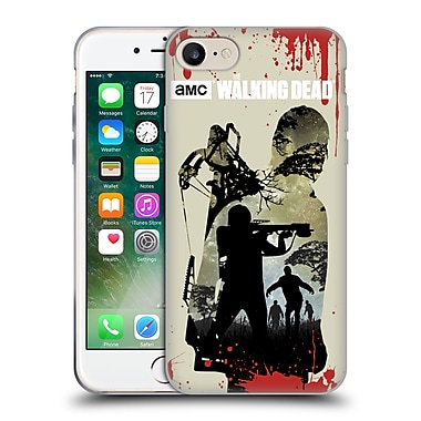 Official Amc The Walking Dead Silhouettes Daryl Full Soft Gel Case For Apple Iphone 7