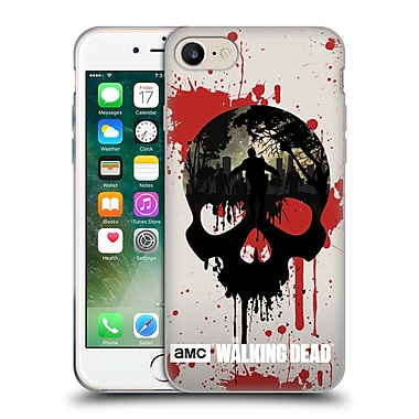 Official Amc The Walking Dead Silhouettes Skull Soft Gel Case For Apple Iphone 7