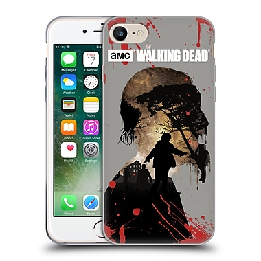 Official Amc The Walking Dead Silhouettes Walker Soft Gel Case For Apple Iphone 7