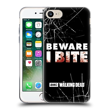 Official Amc The Walking Dead Typography I Bite Soft Gel Case For Apple Iphone 7