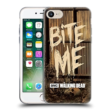 Official Amc The Walking Dead Typography Bite Me Soft Gel Case For Apple Iphone 7