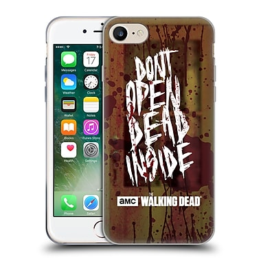 Official Amc The Walking Dead Typography Do Not Open Soft Gel Case For Apple Iphone 7