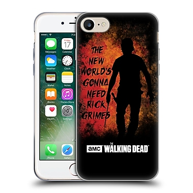 Official Amc The Walking Dead Typography Gonna Need Rick Soft Gel Case For Apple Iphone 7
