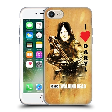 Official Amc The Walking Dead Typography Love Daryl Crossbow Soft Gel Case For Apple Iphone 7