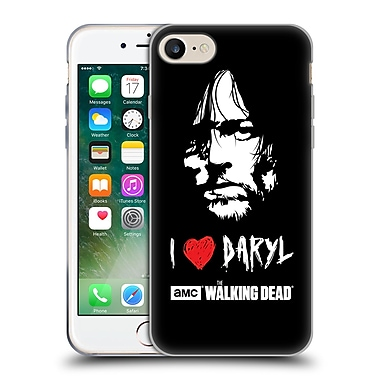 Official Amc The Walking Dead Typography Love Daryl Face Soft Gel Case For Apple Iphone 7