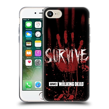 Official Amc The Walking Dead Typography Survive Hand Soft Gel Case For Apple Iphone 7