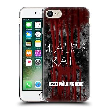 Official Amc The Walking Dead Typography Walker Bait Soft Gel Case For Apple Iphone 7