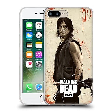 Official Amc The Walking Dead Distressed Illustrations Daryl Soft Gel Case For Apple Iphone 7 Plus