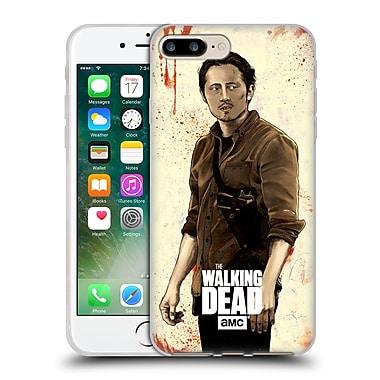 Official Amc The Walking Dead Distressed Illustrations Glenn Soft Gel Case For Apple Iphone 7 Plus