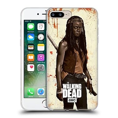 Official Amc The Walking Dead Distressed Illustrations Michonne Soft Gel Case For Apple Iphone 7 Plus