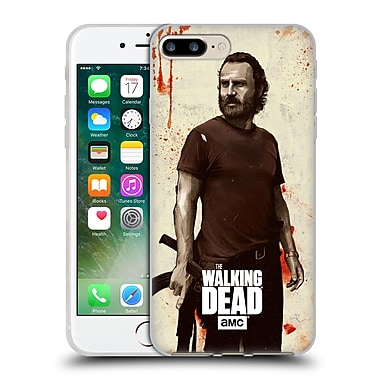 Official Amc The Walking Dead Distressed Illustrations Rick Soft Gel Case For Apple Iphone 7 Plus
