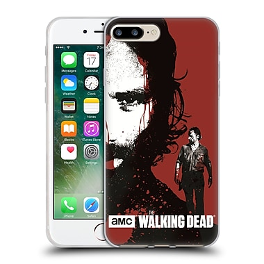 Official Amc The Walking Dead Gore Bloody Face Rick Soft Gel Case For Apple Iphone 7 Plus