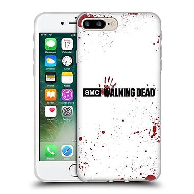 Official Amc The Walking Dead Logo Blood White Soft Gel Case For Apple Iphone 7 Plus