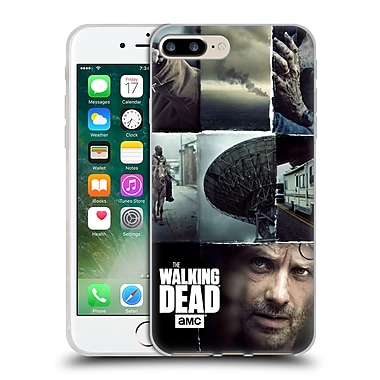 Official Amc The Walking Dead Logo Key Art Vertical Soft Gel Case For Apple Iphone 7 Plus