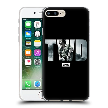 Official Amc The Walking Dead Logo Portrait Soft Gel Case For Apple Iphone 7 Plus