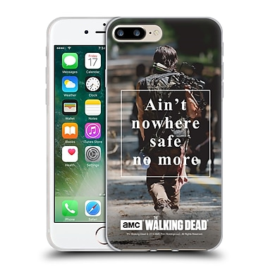 Official Amc The Walking Dead Quotes Daryl Nowhere Safe Soft Gel Case For Apple Iphone 7 Plus
