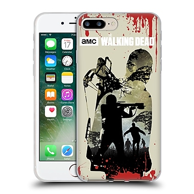 Official Amc The Walking Dead Silhouettes Daryl Full Soft Gel Case For Apple Iphone 7 Plus