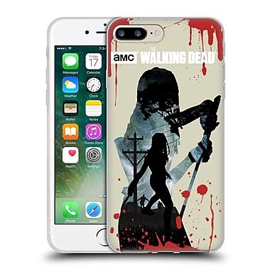 Official Amc The Walking Dead Silhouettes Michonne Soft Gel Case For Apple Iphone 7 Plus
