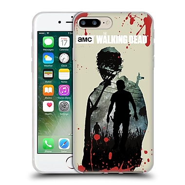 Official Amc The Walking Dead Silhouettes Rick Soft Gel Case For Apple Iphone 7 Plus