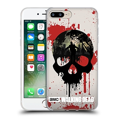 Official Amc The Walking Dead Silhouettes Skull Soft Gel Case For Apple Iphone 7 Plus