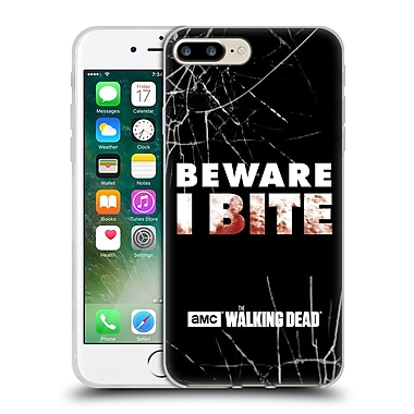 Official Amc The Walking Dead Typography I Bite Soft Gel Case For Apple Iphone 7 Plus