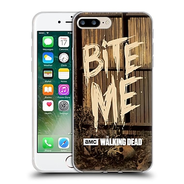 Official Amc The Walking Dead Typography Bite Me Soft Gel Case For Apple Iphone 7 Plus