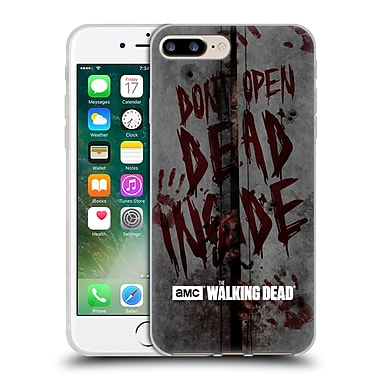 Official Amc The Walking Dead Typography Dead Inside Soft Gel Case For Apple Iphone 7 Plus