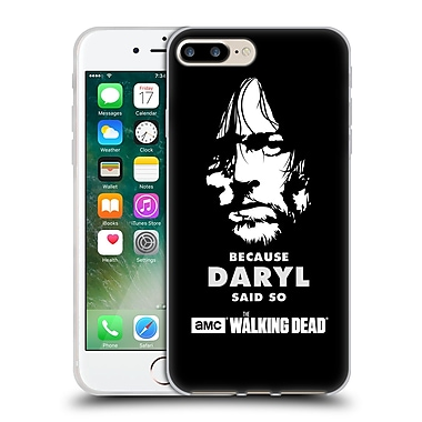 Official Amc The Walking Dead Typography Daryl Says Soft Gel Case For Apple Iphone 7 Plus
