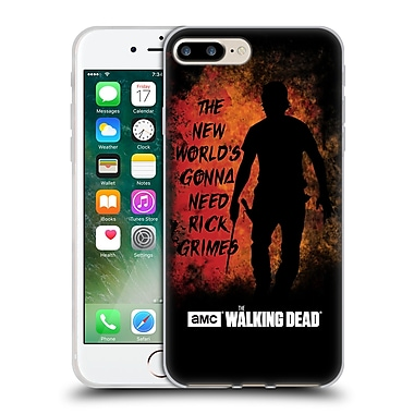 Official Amc The Walking Dead Typography Gonna Need Rick Soft Gel Case For Apple Iphone 7 Plus
