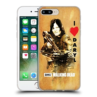 Official Amc The Walking Dead Typography Love Daryl Crossbow Soft Gel Case For Apple Iphone 7 Plus