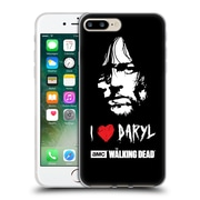 Official Amc The Walking Dead Typography Love Daryl Face Soft Gel Case For Apple Iphone 7 Plus