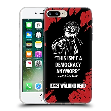 Official Amc The Walking Dead Typography Ricktatorship Soft Gel Case For Apple Iphone 7 Plus