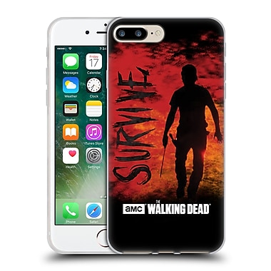 Official Amc The Walking Dead Typography Survive Rick Machete Soft Gel Case For Apple Iphone 7 Plus