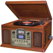 Crosley CR2405C-PA Director CD Recorder with Cassette Player, Paprika