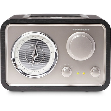 Crosley CR3003A-BK Solo AM/FM Tabletop Radio, Black